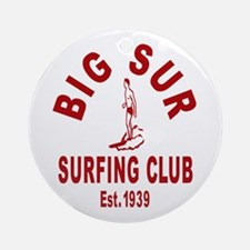 Vintage Big Sur Surfing Club Ornament (Round)