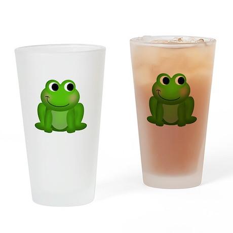 Cute Froggy Drinking Glass