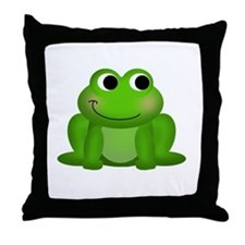 Cute Froggy Throw Pillow
