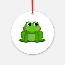 Cute Froggy Ornament (Round)