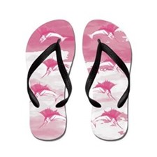 Pink Sailfish Flip Flops