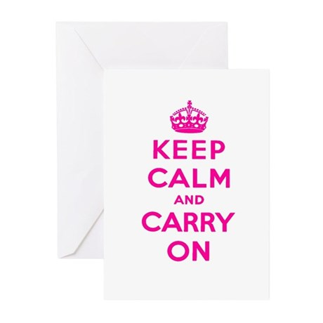 KEEP CALM Greeting Cards (Pk of 10)