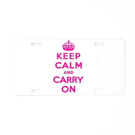 KEEP CALM Aluminum License Plate
