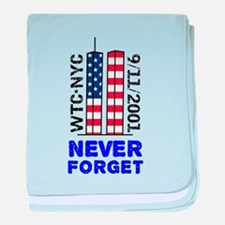 Never Forget 9/11 baby blanket