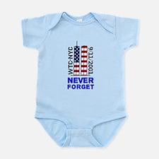 Never Forget 9/11 Infant Bodysuit