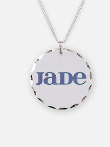 Jade Blue Glass Necklace
