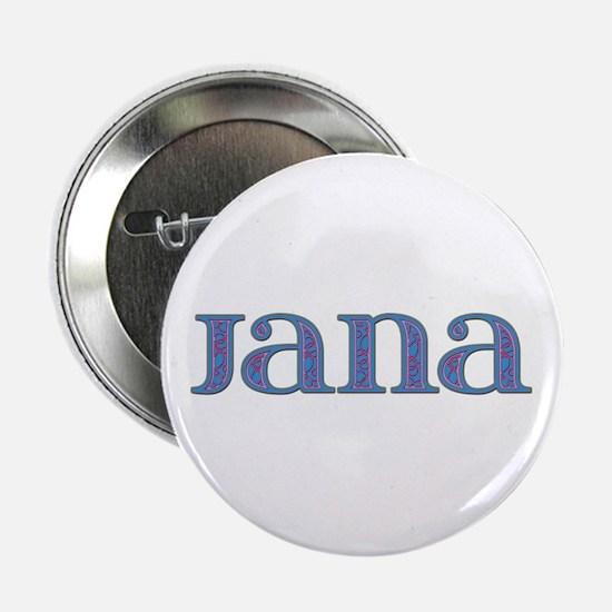 Jana Blue Glass Button