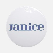 Janice Blue Glass Round Ornament