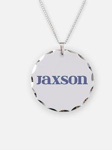 Jaxson Blue Glass Necklace