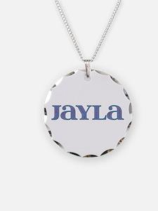 Jayla Blue Glass Necklace