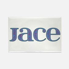Jace Blue Glass Rectangle Magnet