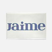 Jaime Blue Glass Rectangle Magnet