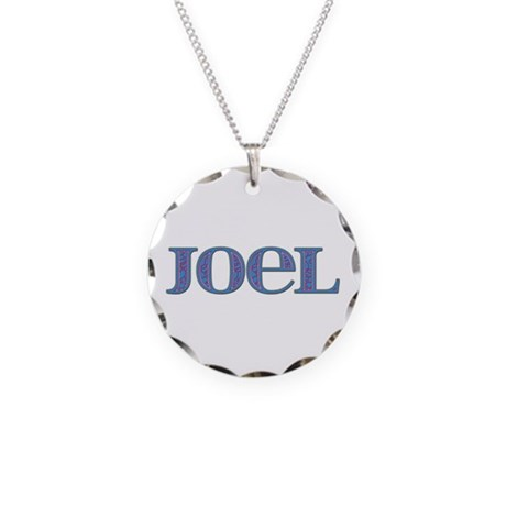Joel Blue Glass Necklace Circle Charm