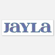 Jayla Blue Glass Bumper Car Car Sticker