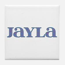 Jayla Blue Glass Tile Coaster
