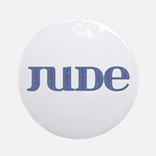 Jude Blue Glass Round Ornament