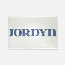 Jordyn Blue Glass Rectangle Magnet