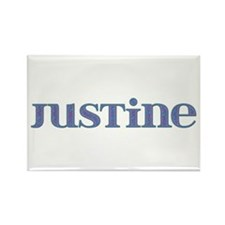 Justine Blue Glass Rectangle Magnet