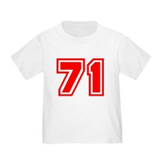 Varsity Uniform Number 71 (Red) T