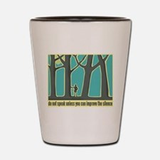John Muir Quote Shot Glass