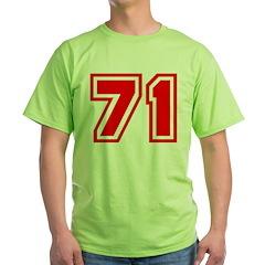 Varsity Uniform Number 71 (Red) T-Shirt