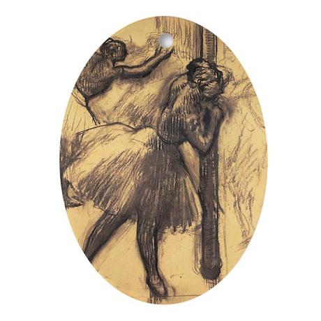 Edgar Degas Ornament (Oval)