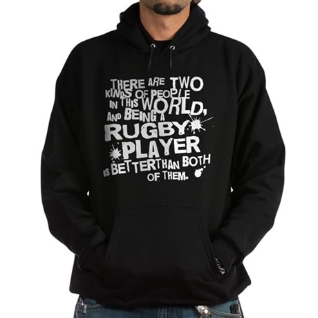 Rugby Player (Funny) Gift Hoodie (dark)