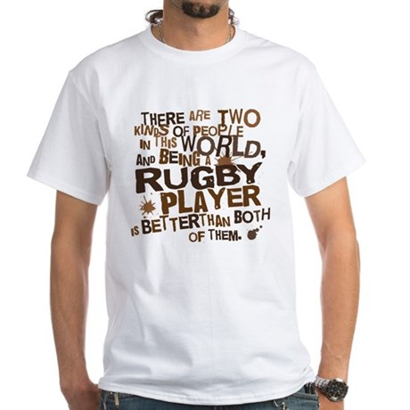 Rugby Player (Funny) Gift White T-Shirt