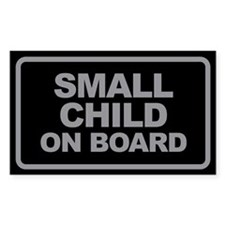 Small Child On Board Black and Grey Car Decal