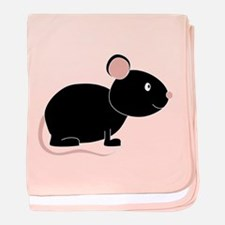 Cute Black Mouse baby blanket