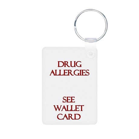 Medic Alert Rx Allergies Aluminum Photo Keychain