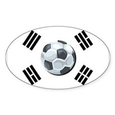 Korean Soccer Oval Decal