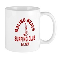 Malibu Beach Surfing Club Small Mug