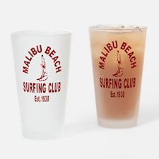 Malibu Beach Surfing Club Drinking Glass