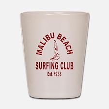 Malibu Beach Surfing Club Shot Glass