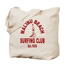 Malibu Beach Surfing Club Tote Bag