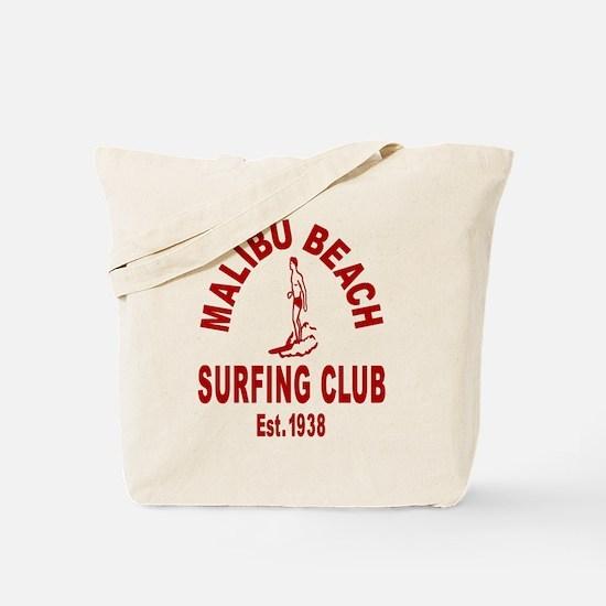 Malibu Beach Surfing Club Tote Bag