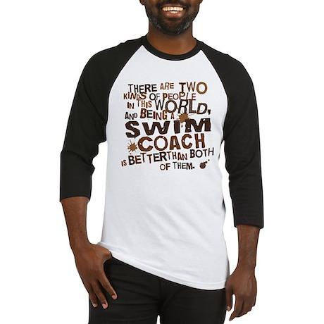 Swim Coach (Funny) Gift Baseball Jersey