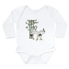 Crane & bamboo Long Sleeve Infant Bodysuit