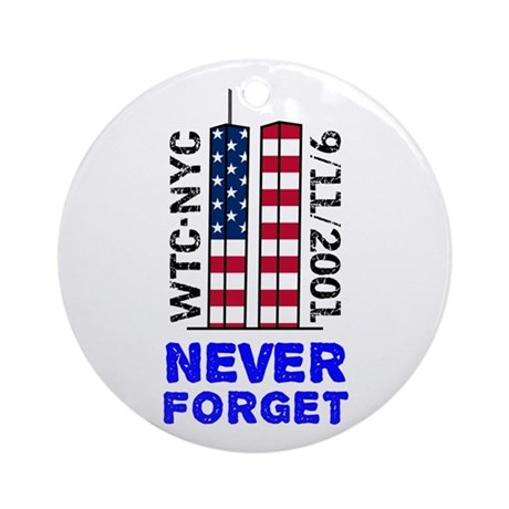 Never Forget 9/11 Ornament (Round)