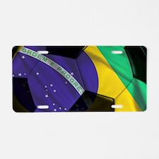 Brasil Futebol Aluminum License Plate