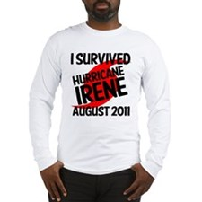 I SURVIVED IRENE 2011 Long Sleeve T-Shirt