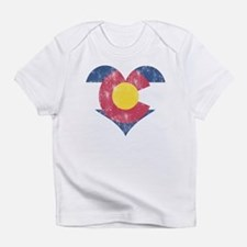 Vintage Colorado State Flag Heart T-Shirt