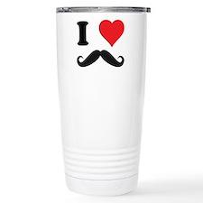 I LOVE DARK MOUSTACHES Travel Mug