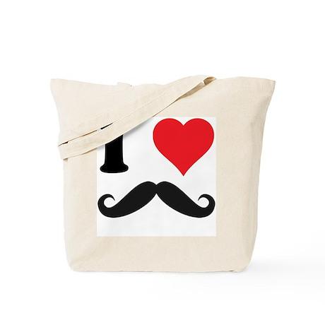 I LOVE DARK MOUSTACHES Tote Bag