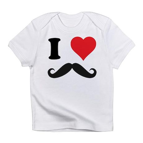 I LOVE DARK MOUSTACHES Infant T-Shirt
