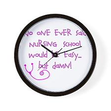 Nursing Student IV 2011 Wall Clock