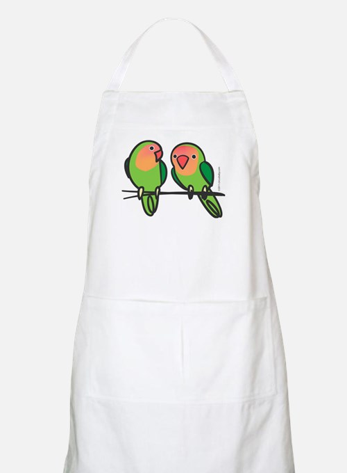 Peach-Faced Lovebirds Apron