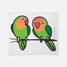 Peach-Faced Lovebirds Throw Blanket
