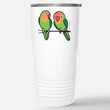 Peach-Faced Lovebirds Stainless Steel Travel Mug